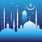 美丽的清真寺和尖塔 免版税图库摄影