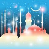 美丽的清真寺和尖塔 库存照片