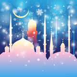 美丽的清真寺和尖塔 免版税库存照片