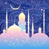 美丽的清真寺和尖塔 免版税库存图片