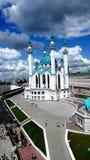 美丽的清真寺在喀山克里姆林宫 免版税库存图片