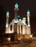 美丽的清真寺在喀山 33c 1月横向俄国温度ural冬天 库存图片