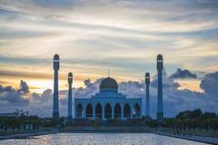 美丽的清真寺在泰国 库存照片