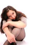 美丽的渔网储存妇女年轻人 免版税库存照片