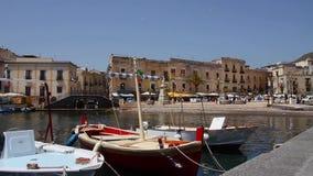 美丽的港口在意大利,利帕里岛,意大利 影视素材