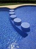 美丽的游泳池 免版税库存照片