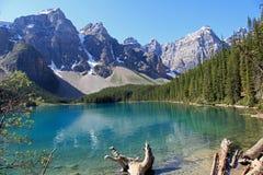 美丽的湖冰碛 免版税库存照片