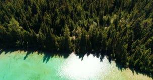 美丽的湖和山4k鸟瞰图  影视素材
