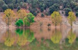 美丽的湖在它称wiwan的摩洛哥 库存图片