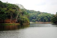美丽的湖在非洲 免版税库存照片