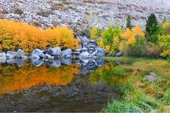 美丽的湖山 图库摄影