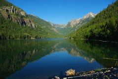 美丽的湖麦克唐纳,蒙大拿 库存照片