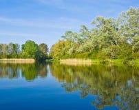 美丽的湖 库存照片