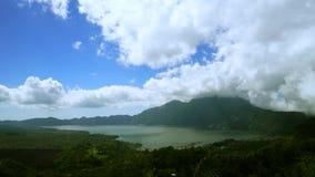 美丽的湖Batur停止运动英尺长度  股票视频