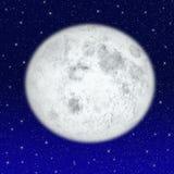 美丽的满月 向量例证