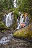 美丽的瀑布在俄勒冈 库存照片