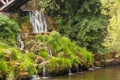美丽的瀑布在克罗地亚 免版税库存图片