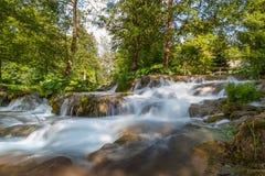 美丽的瀑布在克罗地亚 库存照片