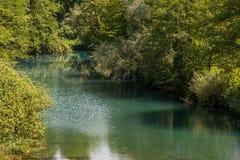 美丽的瀑布在克罗地亚 图库摄影