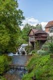 美丽的瀑布在克罗地亚 库存图片