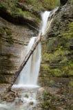 美丽的瀑布在克里米亚 库存照片