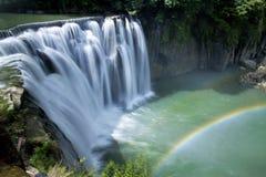 美丽的瀑布在台湾 库存图片