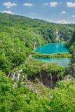 美丽的瀑布在国家公园Plitvice湖,克罗地亚 库存照片