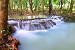 美丽的瀑布在森林里在泰国 Nakhon Si Thammarat 库存图片
