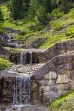 美丽的瀑布在森林里 图库摄影