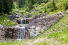 美丽的瀑布在森林里 免版税图库摄影