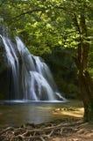 美丽的瀑布在法国在美好的夏日 库存图片