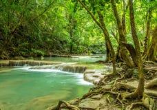 美丽的瀑布在泰国 免版税库存照片