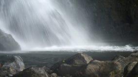 美丽的瀑布在雨林里 股票视频