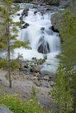 美丽的瀑布在黄石国家公园 库存图片