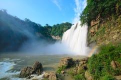美丽的瀑布在贵阳 图库摄影
