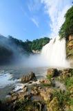 美丽的瀑布在贵阳 库存图片