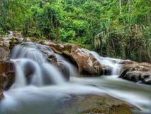 美丽的瀑布在Sik,吉打,马来西亚 免版税库存图片