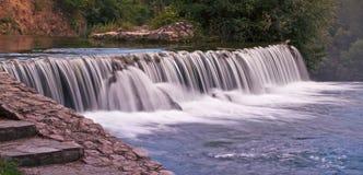 美丽的瀑布横幅 库存照片