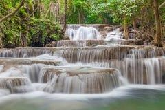 美丽的瀑布自然背景在全国Pa落下 库存照片
