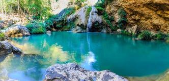 美丽的瀑布, Koe Luang瀑布 免版税图库摄影