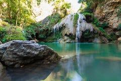 美丽的瀑布, Koe Luang瀑布 免版税库存照片