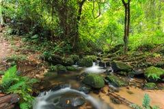 美丽的瀑布Mae巴生Luang在泰国 免版税库存照片