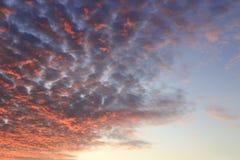 美丽的火云彩 库存图片