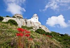 美丽的灯塔在台湾 免版税库存照片