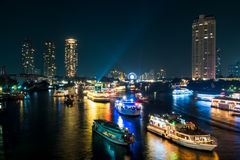 美丽的灯船 库存照片