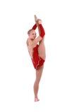 美丽的灵活的女孩体操运动员 库存照片