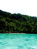 美丽的热带海和雨林在安达曼s 免版税库存照片