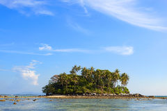 美丽的热带海岛在普吉岛泰国 图库摄影