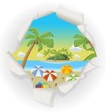 美丽的热带海滩 免版税库存照片