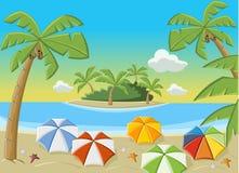 美丽的热带海滩 免版税库存图片
